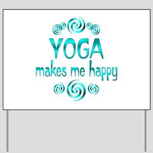 Yoga Happiness Yard Sign