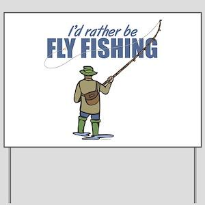 Fly Fishing Yard Sign
