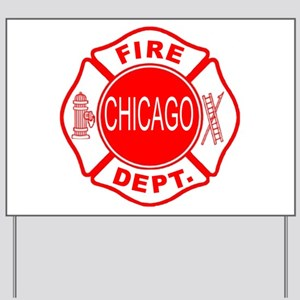 Chicago Firedepartment Yard Sign