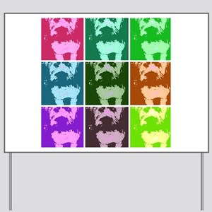 Wheaton Terrier Pop Art Yard Sign