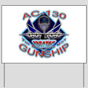 USAF AC-130 Gunship Skull Yard Sign