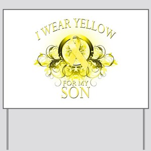 I Wear Yellow for my Son (flo Yard Sign