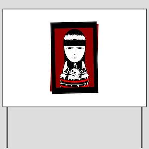 Goth Girl Yard Sign