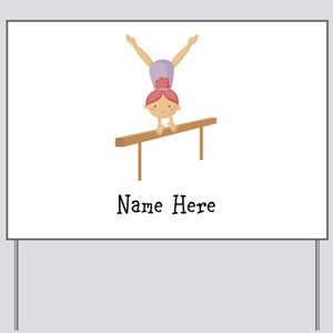 gymnast on beam Yard Sign