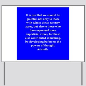 Wisdom of Aristotle Yard Sign