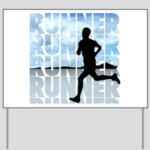 runner Yard Sign