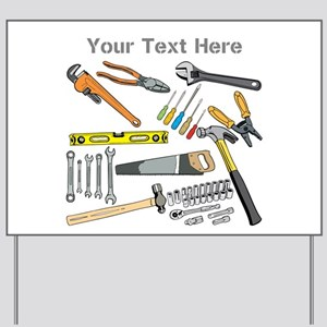 Tools with Gray Text. Yard Sign