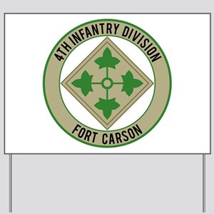 4th Infantry post Yard Sign