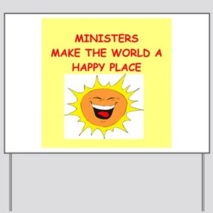 minister Yard Sign