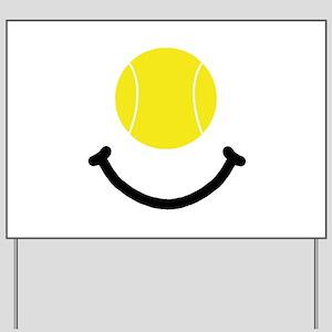 Tennis Smile Yard Sign