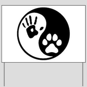 Human & Dog Yin Yang Yard Sign