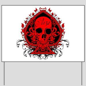 Ace Skull Yard Sign