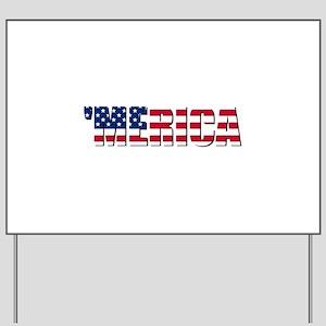 Merica USA Yard Sign