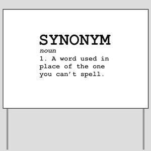 Synonym Definition Yard Sign