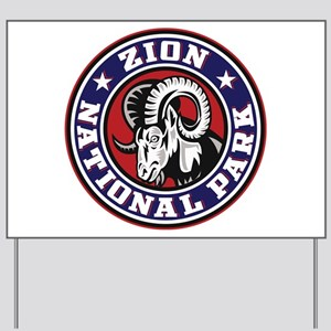 Zion Ram Circle Yard Sign