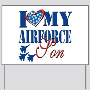 I Love My Airforce Son Yard Sign