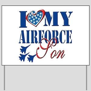 I Love My Airforce Son Yard Sign