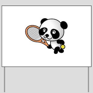 Tennis Panda Yard Sign
