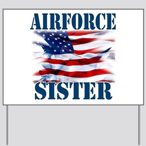 Airforce Sister Yard Sign