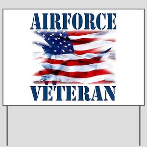 Airforce Veteran copy Yard Sign