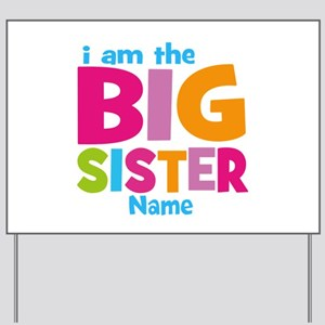 Big Sister Personalized Yard Sign