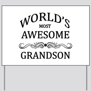 World's Most Awesome Grandson Yard Sign