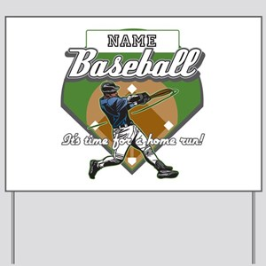 Personalized Home Run Time Yard Sign