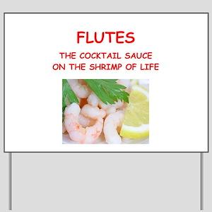 flute Yard Sign