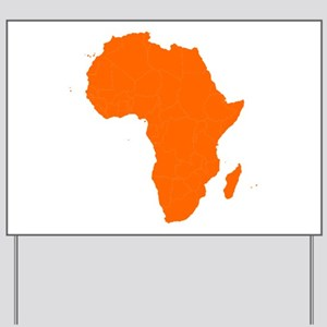 Continent of Africa Yard Sign