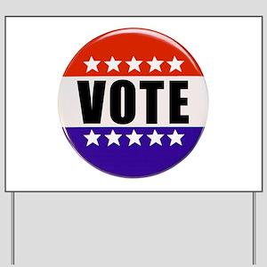 Vote Button Yard Sign
