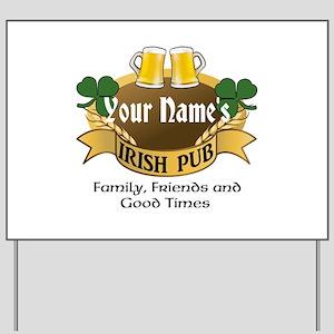 Personalized Name Irish Pub Yard Sign
