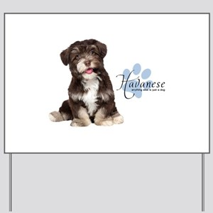 Havanese Puppy Yard Sign