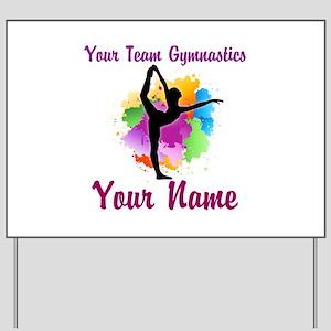 Customizable Gymnastics Team Yard Sign