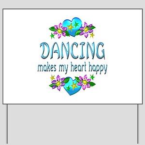 Dancing Heart Happy Yard Sign