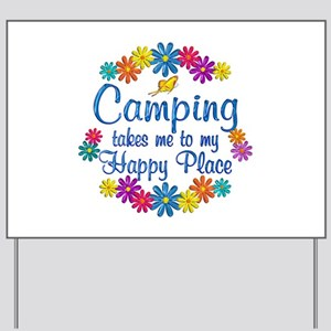 Camping Happy Place Yard Sign