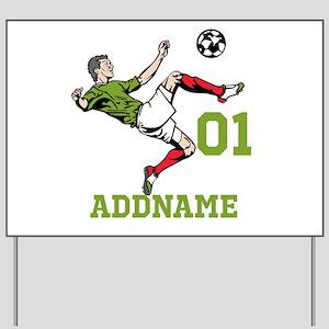 Customizable Soccer Yard Sign