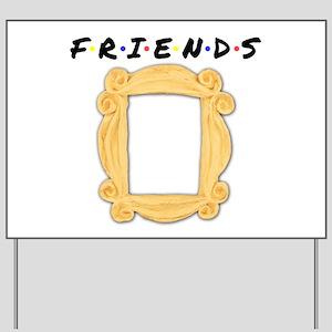 Friends Peephole Frame Yard Sign
