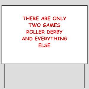roller derby Yard Sign