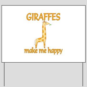 Giraffe Happy Yard Sign