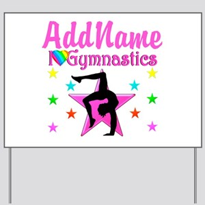 GYMNAST GIRL Yard Sign