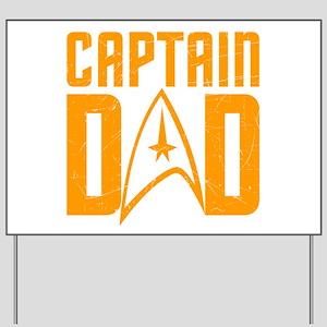 Captain Dad Yard Sign
