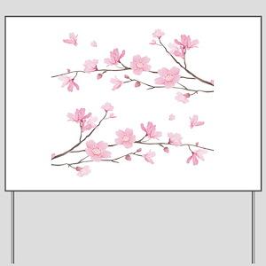Cherry Blossom Yard Sign