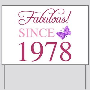 1978 Fabulous Birthday Yard Sign