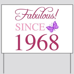 1968 Fabulous Birthday Yard Sign