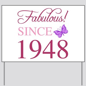 1948 Fabulous Birthday Yard Sign