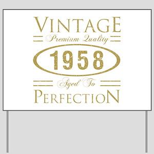 Vintage 1958 Premium Yard Sign