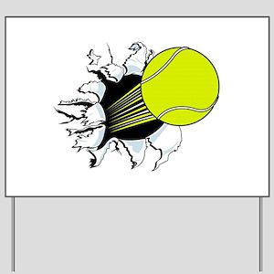 Breakthrough Tennis Ball Yard Sign