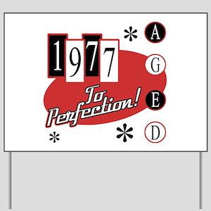 1977 Birthday Mid Century Yard Sign