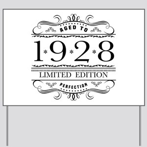 1928 Classic Birthday Yard Sign