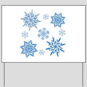 Snowflakes Yard Sign